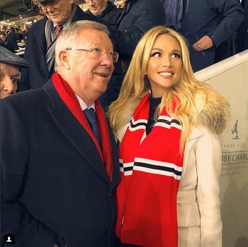 Wiktoria Łopyriewa i sir Alex Ferguson