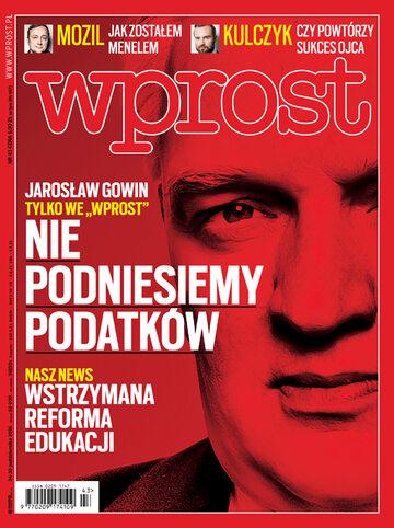 Okładka tygodnika Wprost nr 43/2016 (1759)