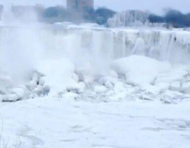 Mrozy w USA. Wodospad Niagara... zamarzł