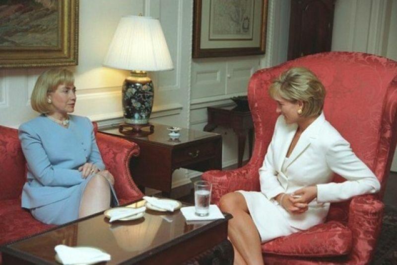 Diana w rozmowie z Hilary Clinton, dwa miesiące przed swoją śmiecią