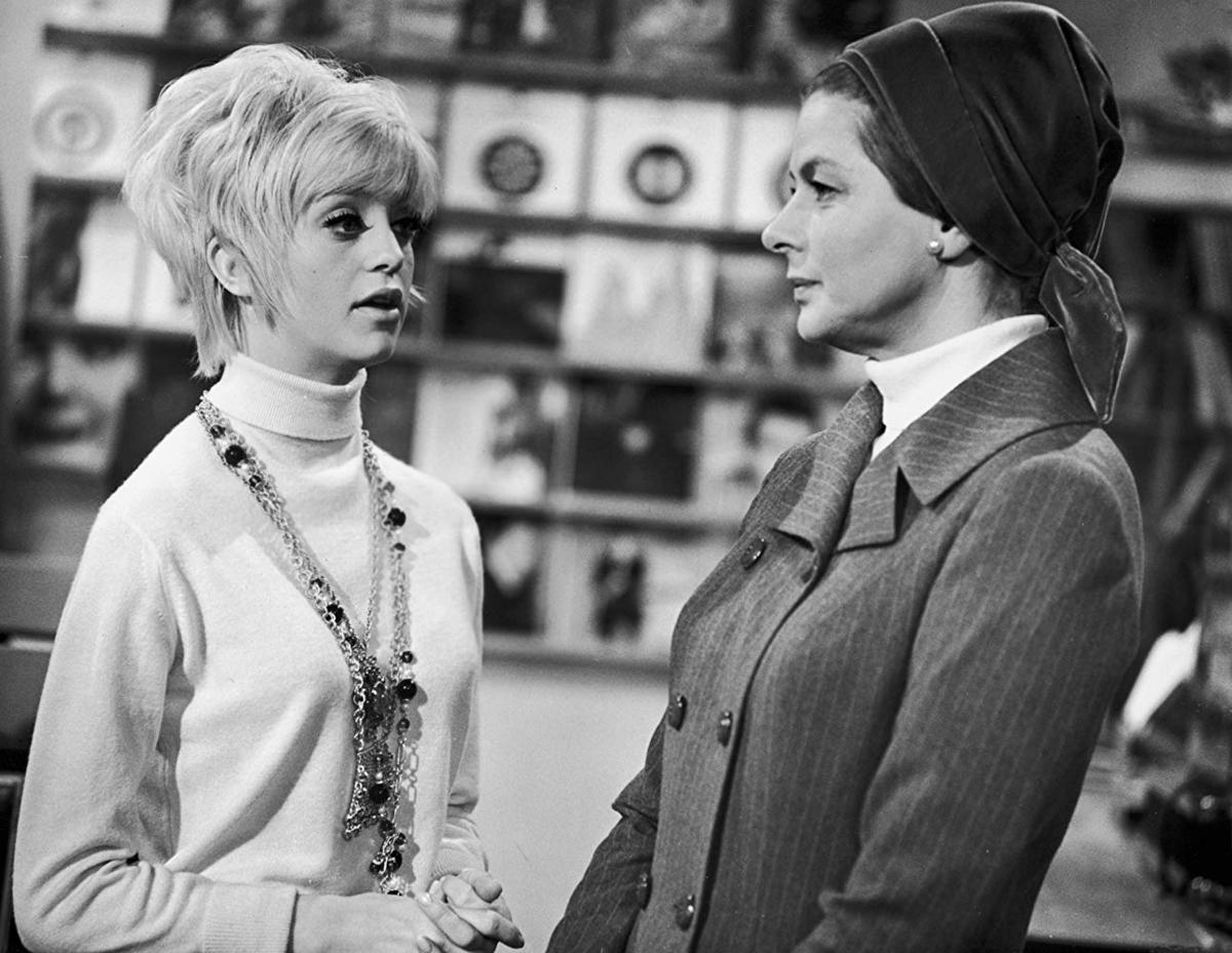 "Ingrid Bergman i Goldie Hawn w ""Kwiat kaktusa"" (1969)"