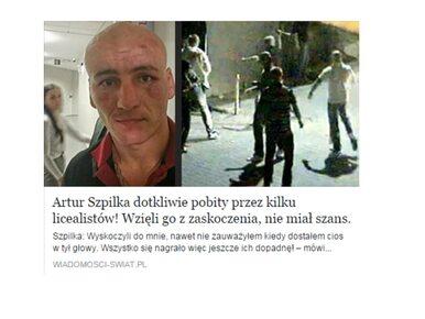 """""""Artur Szpilka dotkliwie pobity"""". Nowa pułapka na Facebooku"""