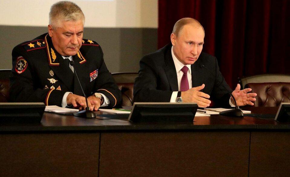 Władimir Putin podczas posiedzenia MSW