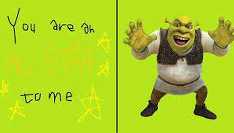 Walentynkowy Shrek