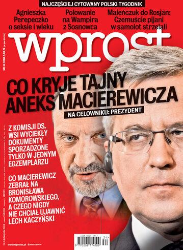 Okładka tygodnika Wprost nr 34/2014 (1642)