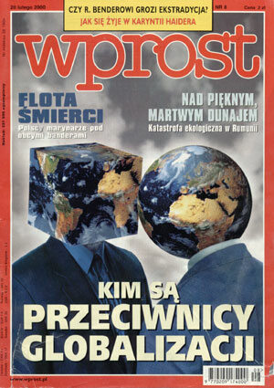 Okładka tygodnika Wprost nr 8/2000 (899)