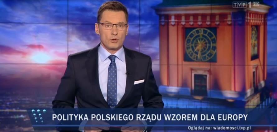 Pasek TVP za czasów prezesury Jacka Kurskiego