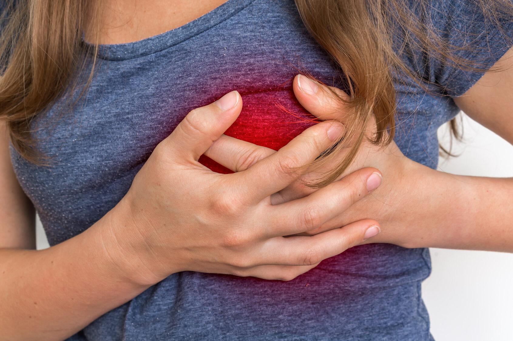 Ból w klatce piersiowej, atak serca.