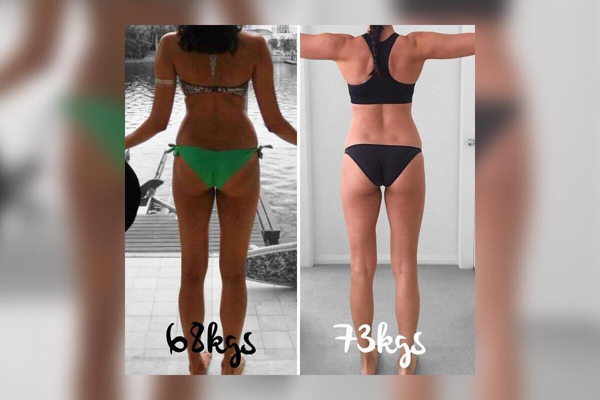 Zdjęcia przed i po zmianie wagi