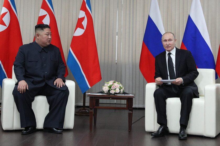 Kim Dzong Un i Władimir Putin