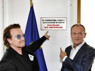 Donald Tusk spotkał się z Bono z U2. Zobacz najlepsze MEMY