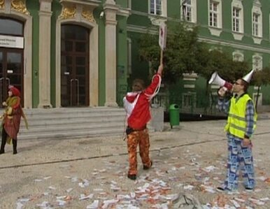 W Szczecinie protestowali... klauni. Poszło o zwierzęta