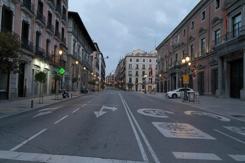 Puste ulice w Madrycie