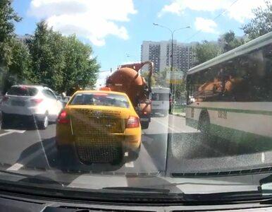 Eksplozja szambiarki. Kamera samochodowa zarejestrowała moment wybuchu