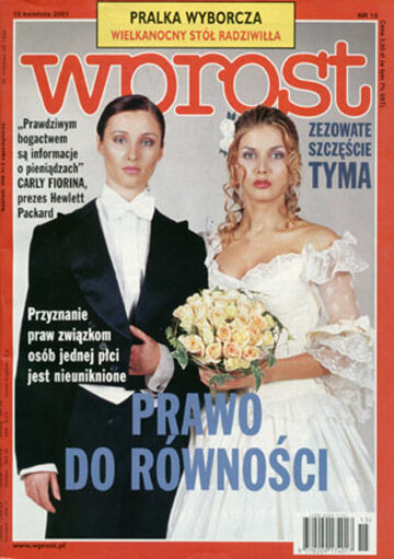 Okładka tygodnika Wprost nr 15/2001 (959)