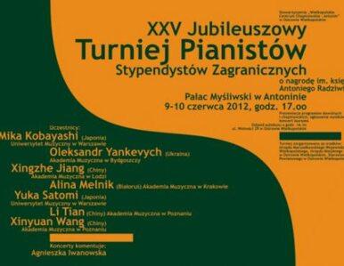 Pianiści powalczą o nagrodę ks. Radziwiłła