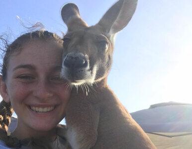 """Pokazała, jak wygląda wnętrze torby kangura. """"Nie chciałem tego oglądać...."""