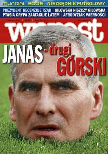 Okładka tygodnika Wprost nr 23/2006 (1226)