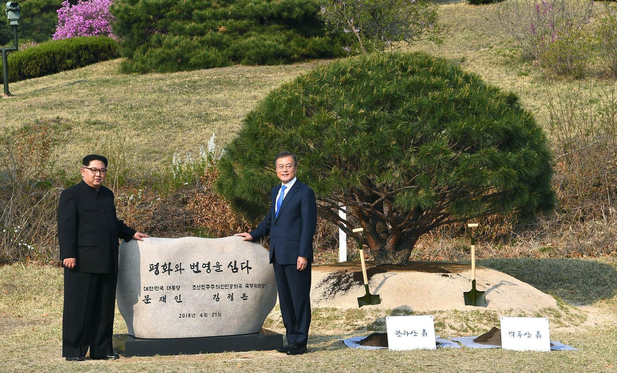 Kim Dzong Un i Moon Dze In