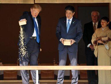 Prezydent Trump karmił rybki. Co mogło pójść nie tak?