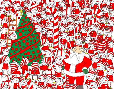 Gdzie jest czapka Mikołaja? Słynny rysownik rzuca internautom wyzwanie