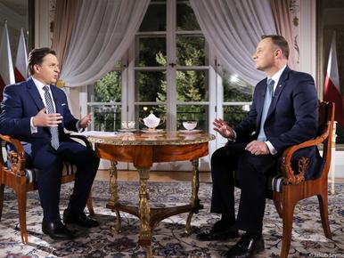 Prezydent Duda mówił o Tusku i Trumpie. Zapytano go, który z nich jest...