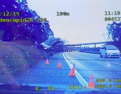 Kamera radiowozu nagrała niesamowity wypadek na A4