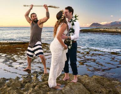 Sesja ślubna z filmowym Aquamanem? Jason Momoa zaskoczył nowożeńców
