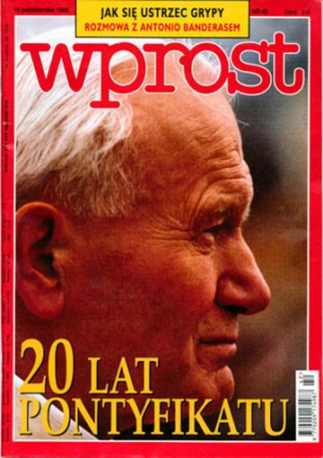 Okładka tygodnika Wprost nr 42/1998 (829)
