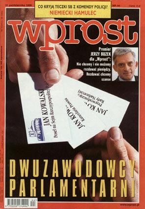 Okładka tygodnika Wprost nr 44/1999 (883)