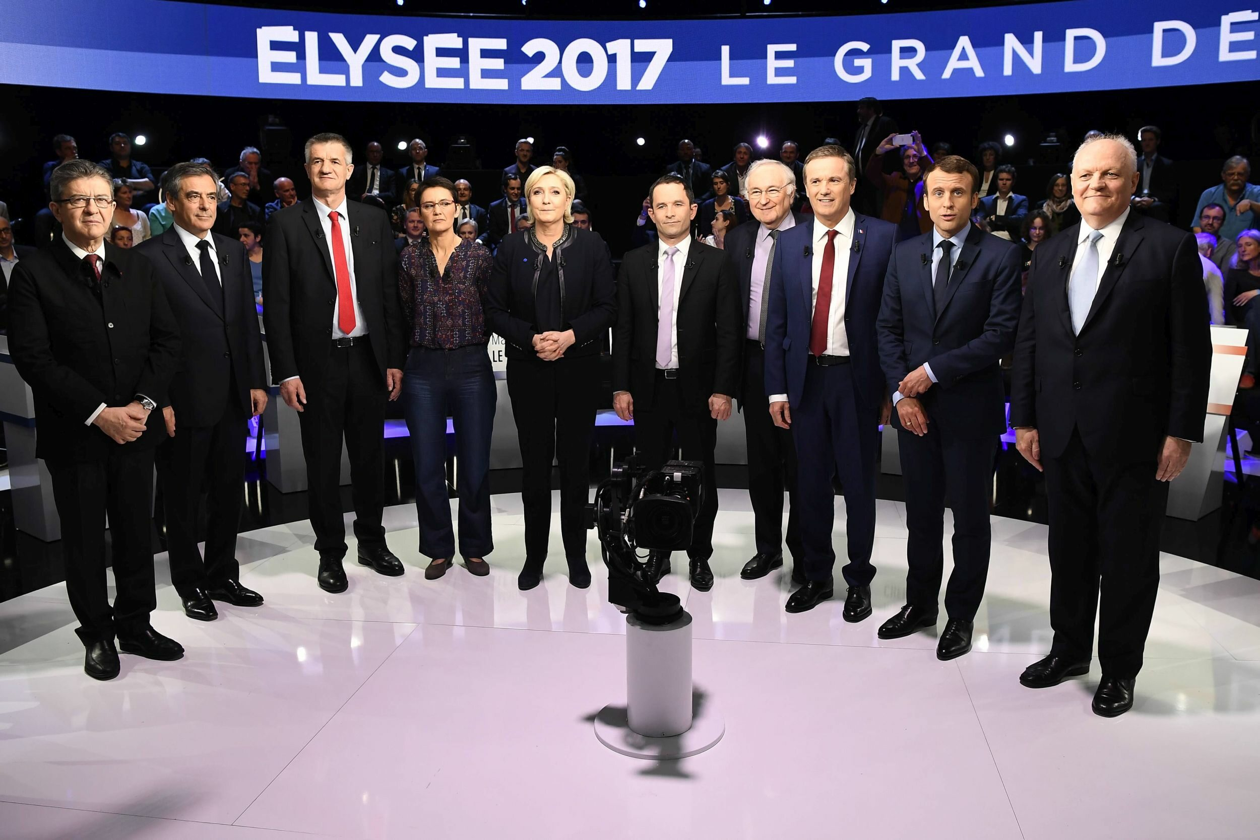 Debata telewizyjna 10 kandydatów na prezydenta Francji