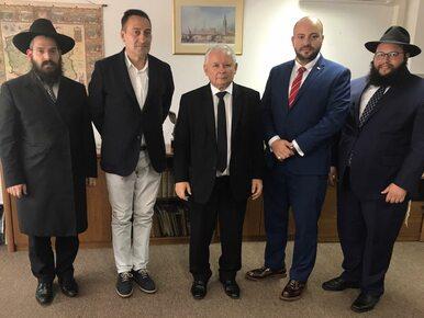 Prezes PiS spotkał się z przedstawicielami środowisk żydowskich....
