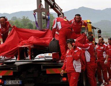 Formuła 1: Alonso rozbił bolid