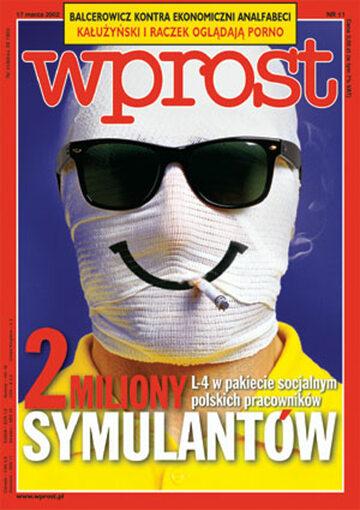Okładka tygodnika Wprost nr 11/2002 (1007)