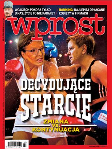 Okładka tygodnika Wprost nr 43/2015 (1702)