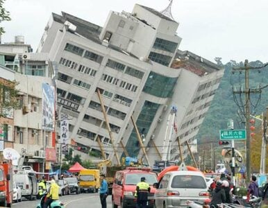 Potężne trzęsienie ziemi na Tajwanie. Zawalone budynki i dziesiątki rannych