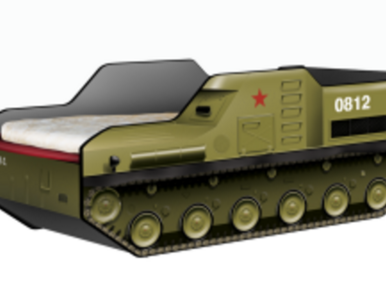 """Łóżko dziecięce w kształcie… przeciwlotniczego zestawu """"Buk M-1"""""""