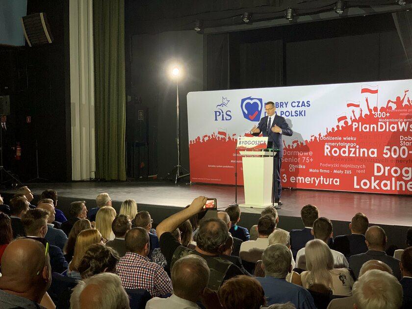 Mateusz Morawiecki na konwencji regionalnej PiS