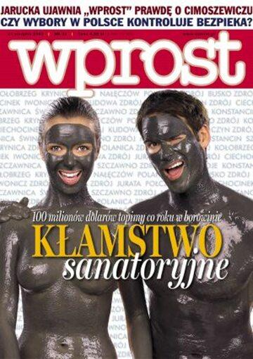 Okładka tygodnika Wprost nr 33/2005 (1185)