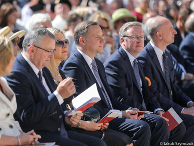 Abp. Gądecki potępił działania polityków. Na mszy obecny był prezydent Duda