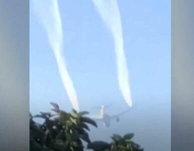 Samolot lądował awaryjnie, zrzucając paliwo nad szkołami. Ucierpiało 60...