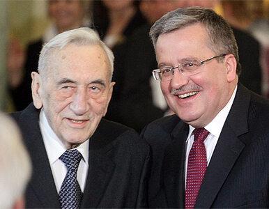 Tadeusz Mazowiecki ma 85 lat. Komorowski: dziękuję ci za mądrość