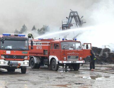 Ogromy pożar składowiska opon w Bogdance. Strażacy opanowali ogień