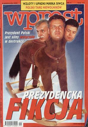 Okładka tygodnika Wprost nr 41/2000 (932)