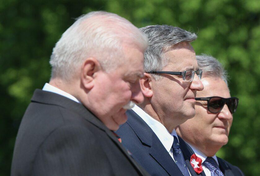 Od lewej: Lech Wałęsa, Bronisław Komorowski, Aleksander Kwaśniewski