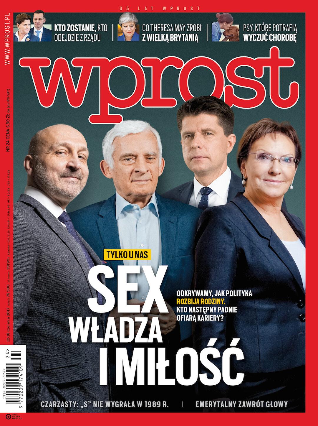 Okładka tygodnika Wprost nr 24/2017 (1790)