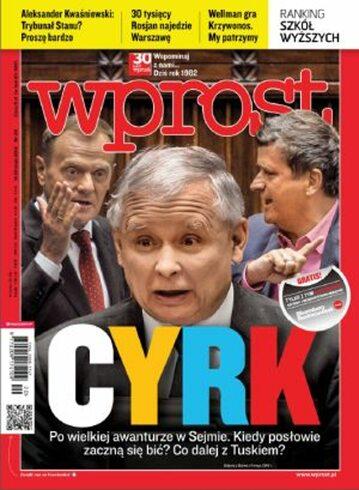 Okładka tygodnika Wprost nr 20/2012 (1526)