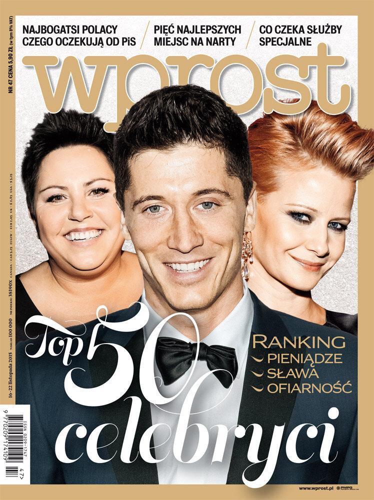 Okładka tygodnika Wprost nr 47/2015 (1706)