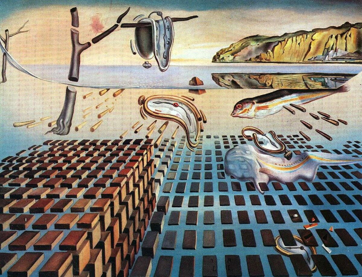 "Salvador Dali ""The Disintegration of the Persistence of Memory"" 1954 r."