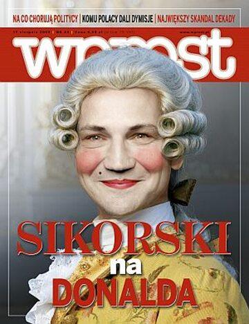 Okładka tygodnika Wprost nr 33/2008 (1338)